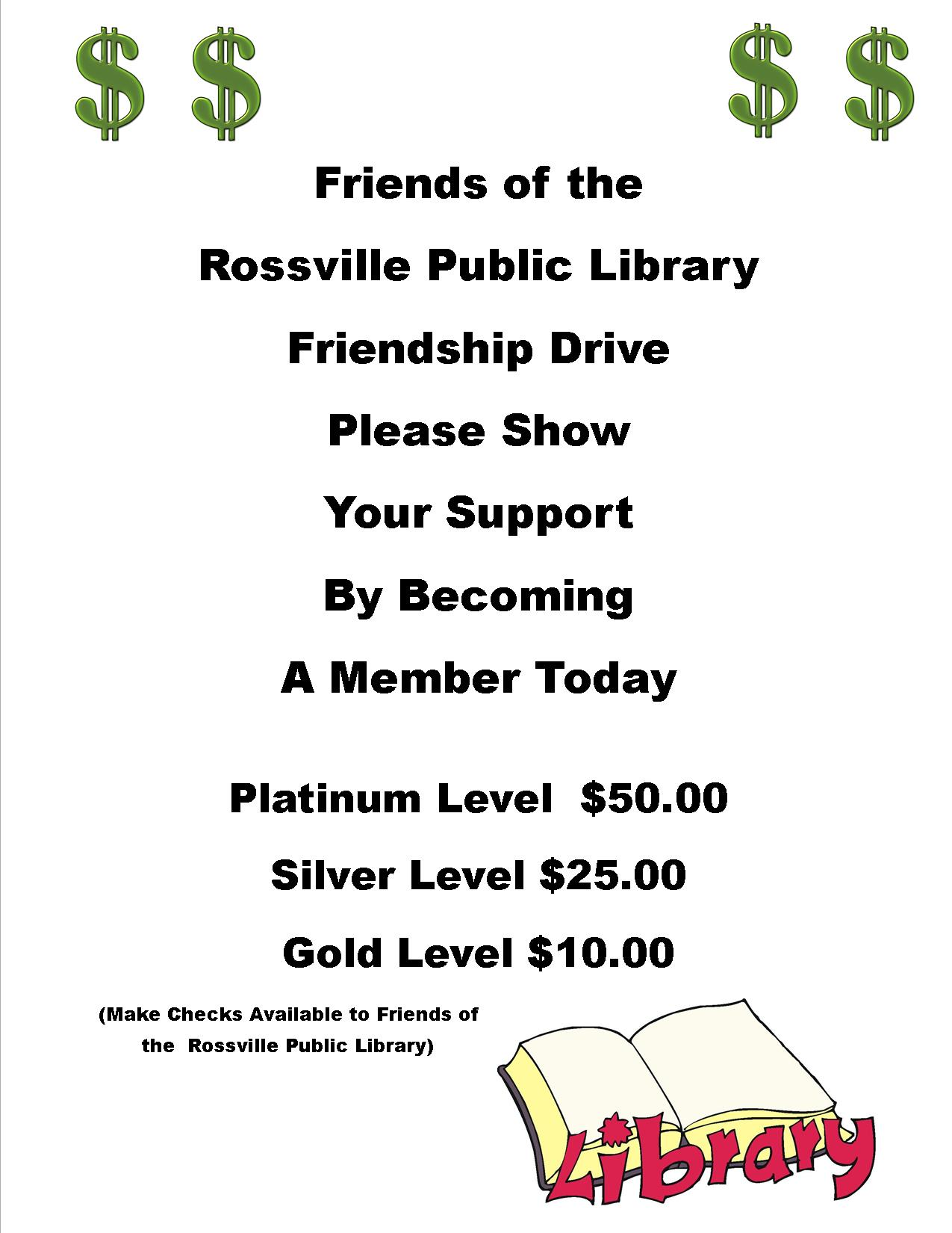 2016 Friends Membership Drive Flyer # 3