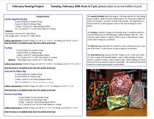 Sew Fun Workshop; Bags @ Chickamauga Public Library