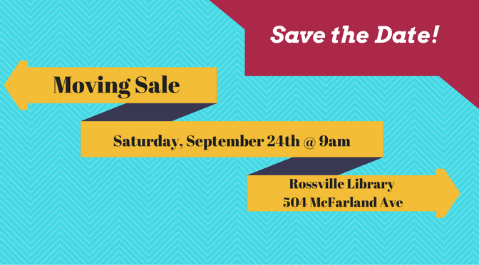 Rossville Library Moving Sale