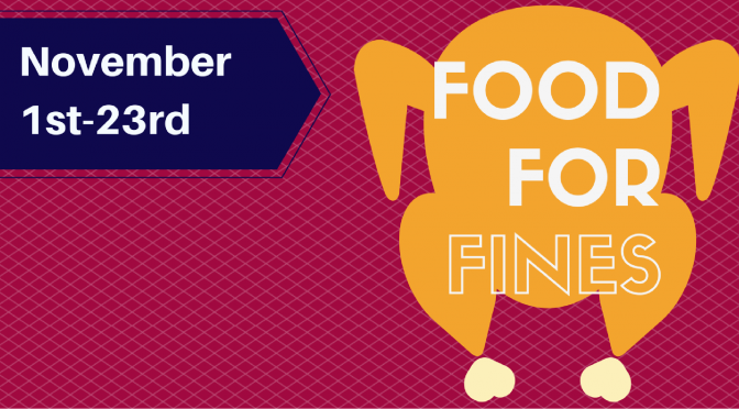 Food for Fines starts November 1st