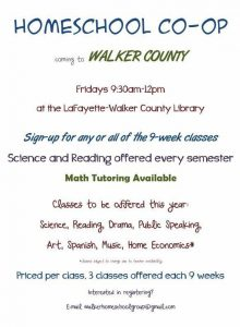 Homeschool Co-Op @ LaFayette-Walker County Library | LaFayette | Georgia | United States