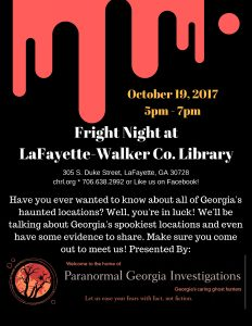Fright Night! - Historic Haunted GA! @ LaFayette-Walker County Library | LaFayette | Georgia | United States