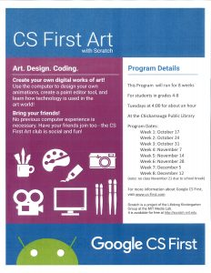 CS-First Club-Art Theme @ Chickamauga Library