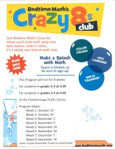 Crazy 8s Math Club @ Chickamauga Library