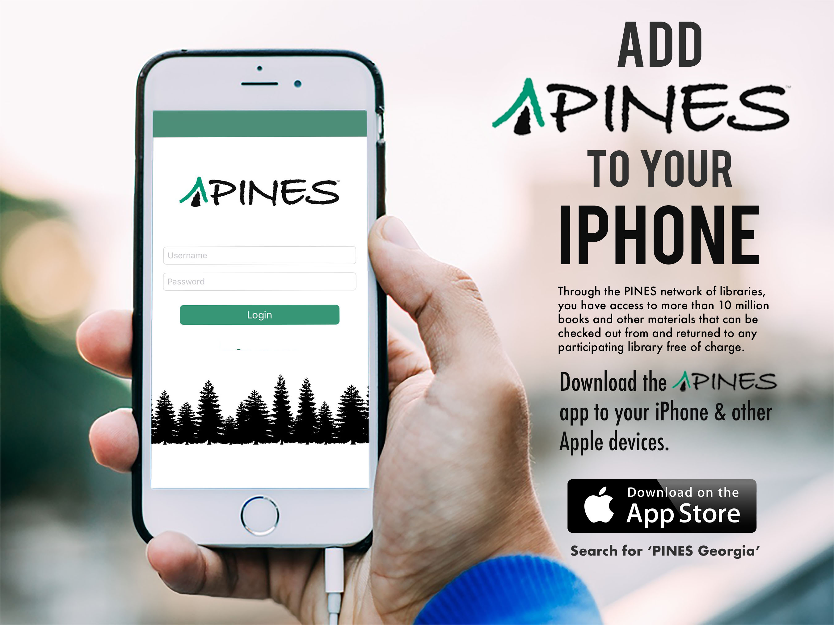 Download the PINES app to your smart device | Cherokee Regional