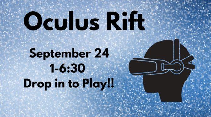 Oculus Rift | Cherokee Regional Library System